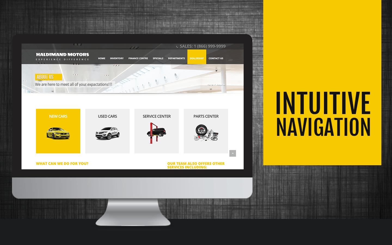 Dealership Website - Intuitive Navigation