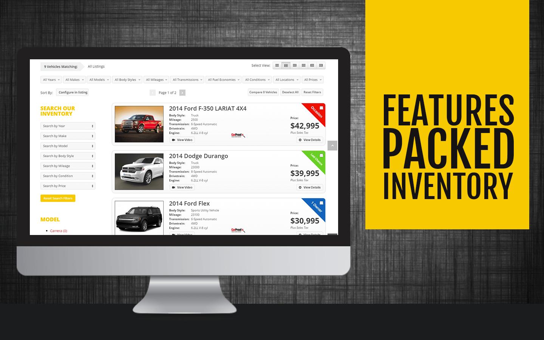 Dealership Website - Products Display